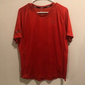 Nike miler Dri fit athletic shirt red lightweight